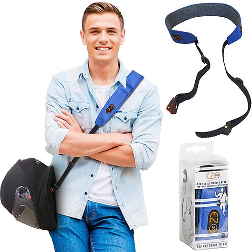 EZ-GO Blue Strap For Motorcycle Helmets