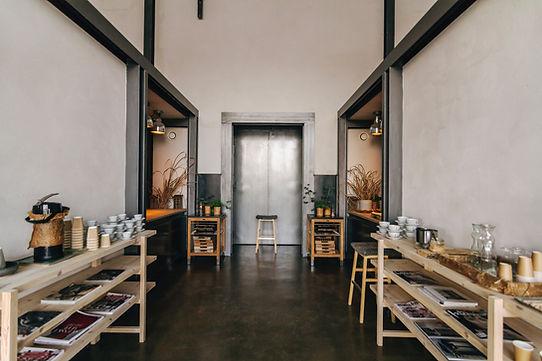 Salle à manger de style industriel