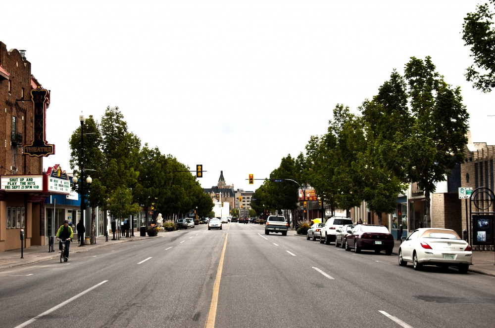 Look at that beautiful castle in the background looking down Riversdales 20th St West Saskatoon.