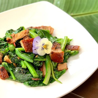 Crispy Pork and Chinese Broccoli