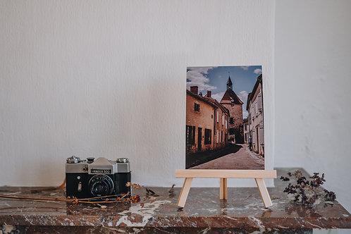 Print A5 Charroux / straat