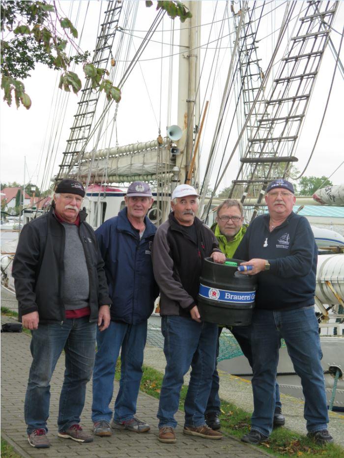 Forchheimer Greif-Crew bei der Ankunft