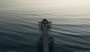 Drone Pier Shot