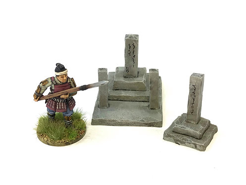 JA08  / Two larger Japanese graves