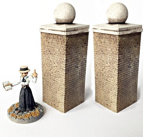 VA07 / High brick column x2