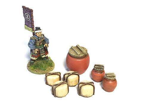 JA23 / Set of rice storage containers