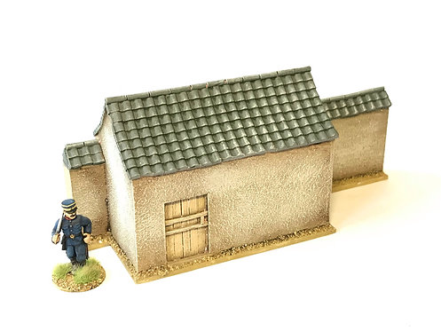 CW09 / Wall with attached storehouse