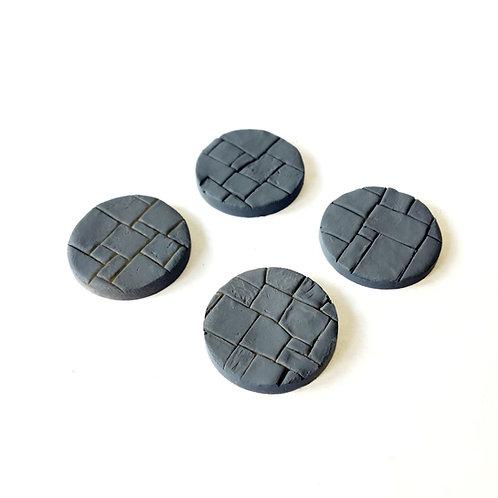 VA01c / 25mm plain flagstone bases