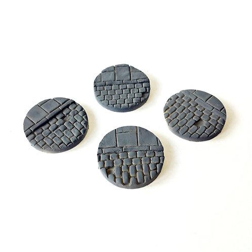 VA01b / 25mm cobblestone bases with pavement edge