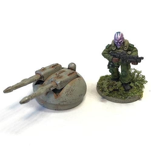 SFV08e / Double laser turret