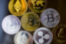 Ripple coin, ethereum, litecoin and bitc