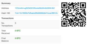 Bitcoin paper wallet - Only share your public key. Never give anyone the secret key!!!