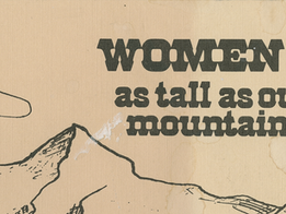 Women as Tall as our Mountains: Biographical sketches by local authors