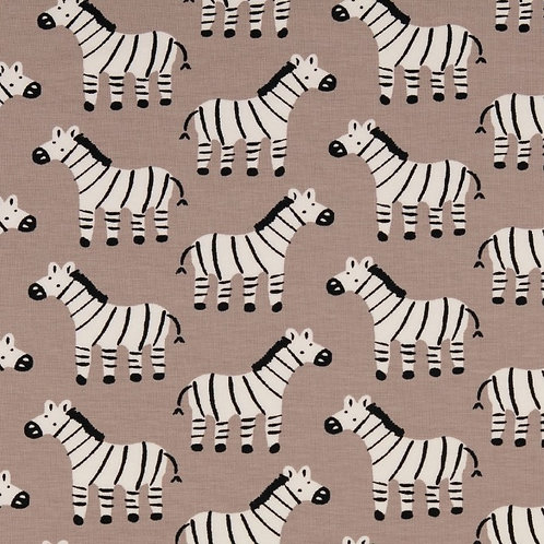 Organic Baumwoll Jersey Zebra beige