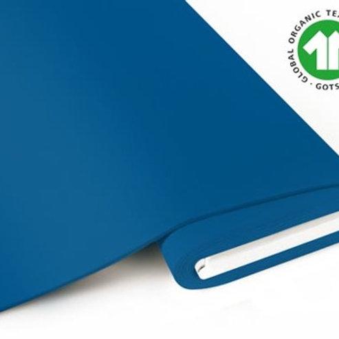 French Terry brushed uni - GOTS zertifiziert -blau