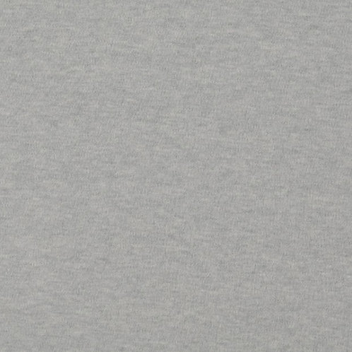 Organic Baumwoll Interlock grau meliert