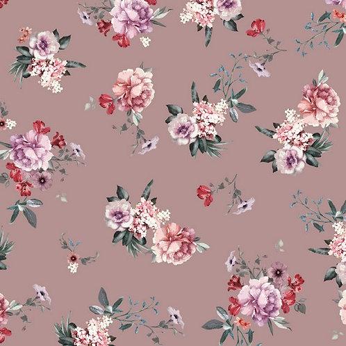 Flowers pink - Sweat GOTS digital