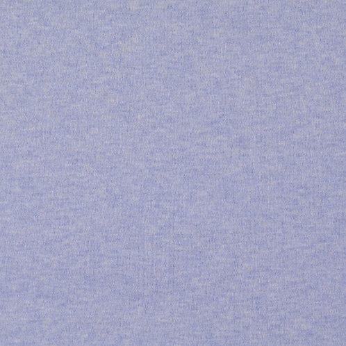 Organic Baumwoll Interlock blau meliert