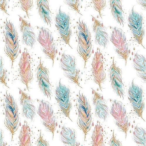 Feathers white - Sweat GOTS digital
