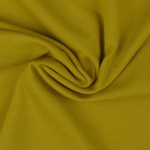 Organic Baumwoll Jersey uni senfgelb