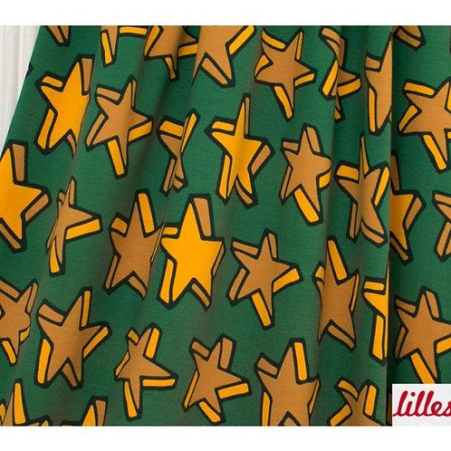 Starlet, dunkelgrün/senf Jersey