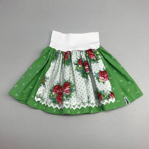 Trachtenrock grün/weiß