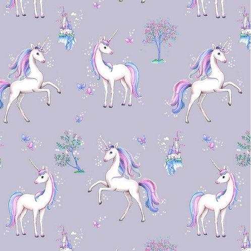 Unicorn Paradise grau - Jersey GOTS digital