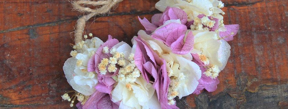 Pulsera Flor Preservada Cuerda
