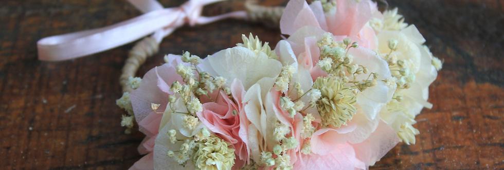 Pulsera Flor Preservada Rosa