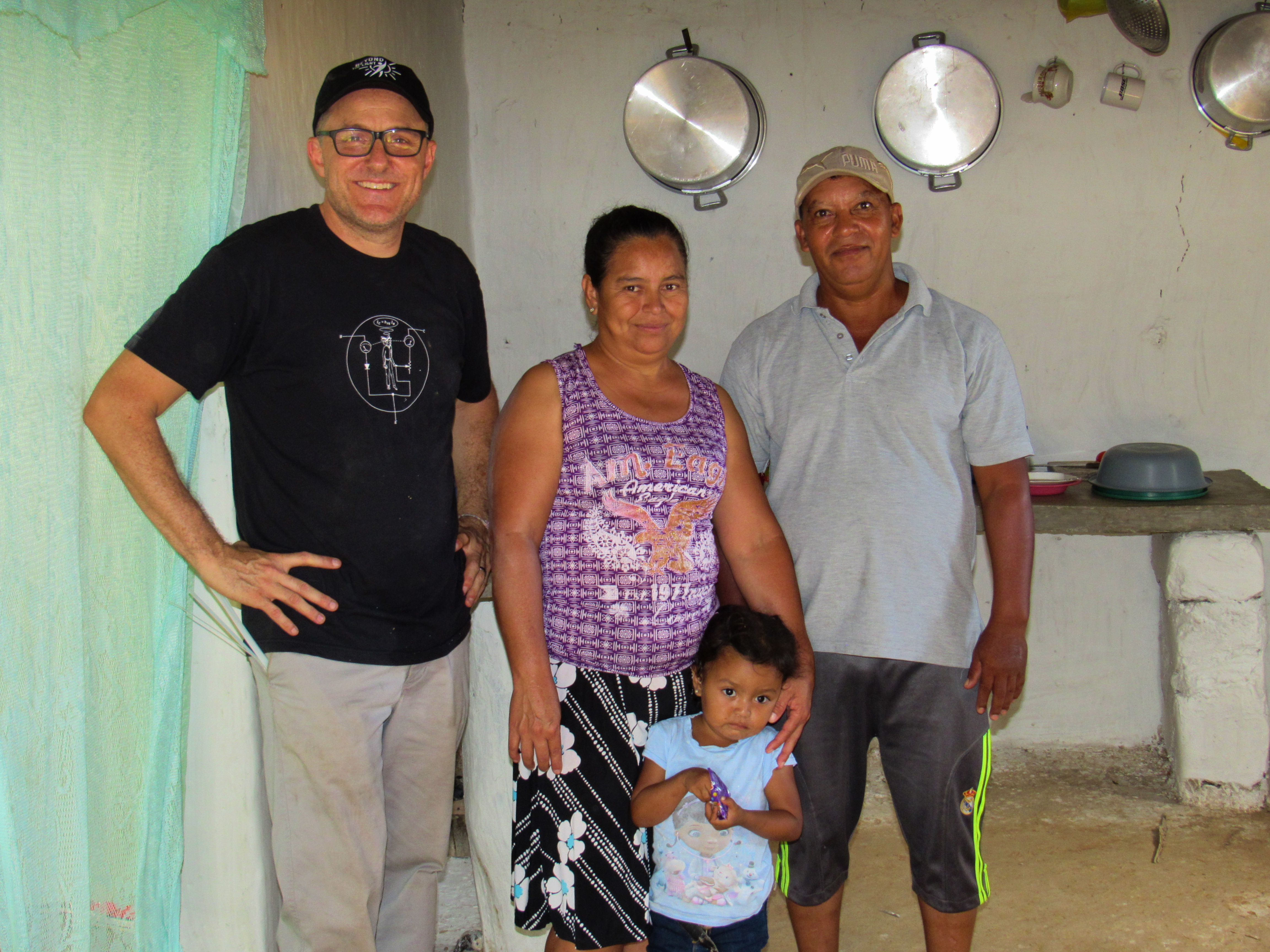 Jimmy with Small Family in Home