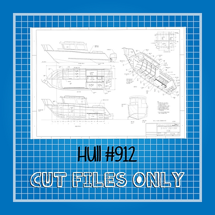 Hull #912 Boat Plans Only