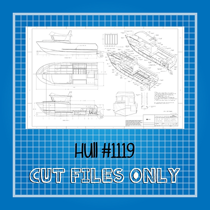 Hull #1119 Boat Plans Only