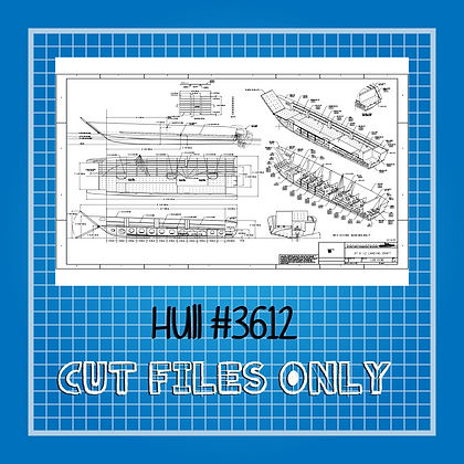 Hull #3612 Landing Craft Plans Only