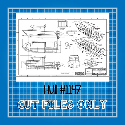 Hull $1147 Boat Plans Only
