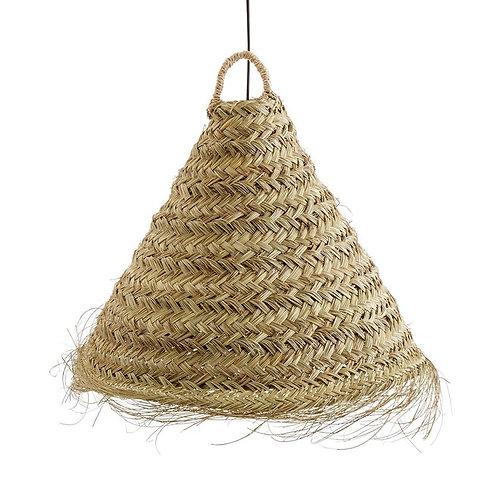 Abat jour cône en feuille de palmier
