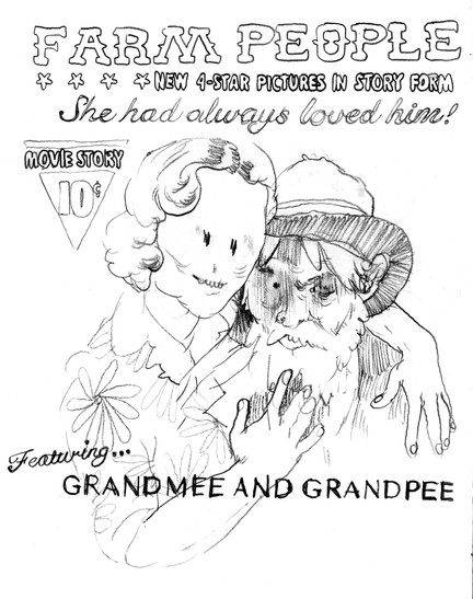 Grandmee and Grandpee FARM PEOPLE Poster, 2020