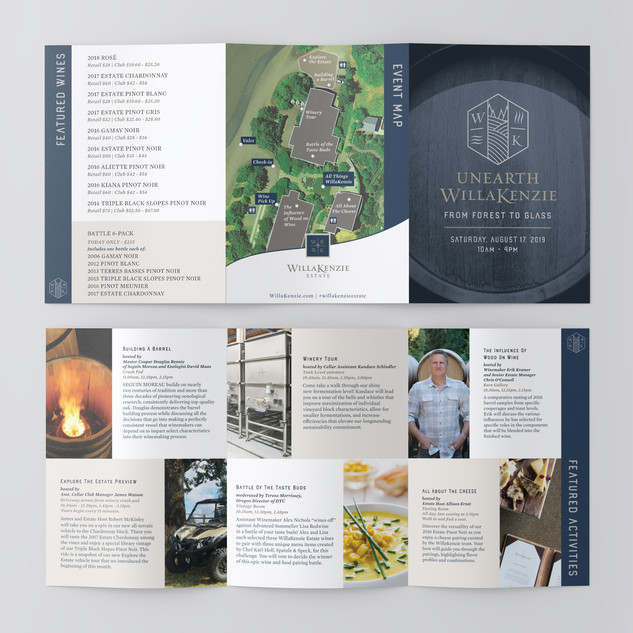 UnEarth WillaKenzie Event Brochure - WillaKenzie Estate