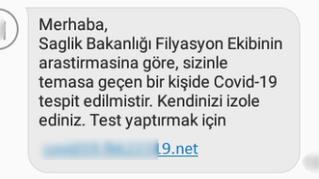 Sıradaki Ülke: Türkiye  Covid-19 Sms Dolandırıcılığı