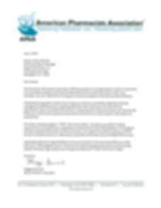 Letter from the American Pharmacists Association (APhA) about MTM Th Future Today