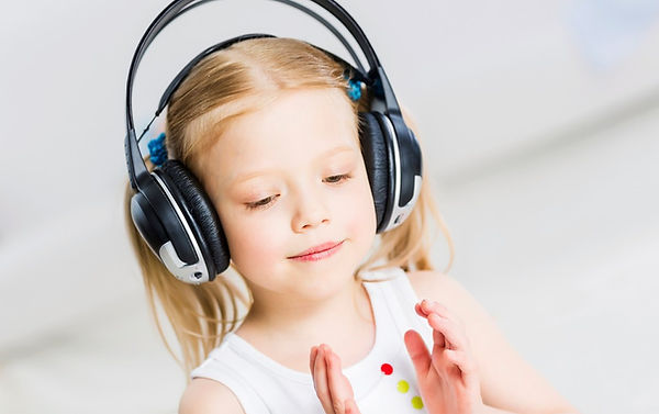 girl listening to music