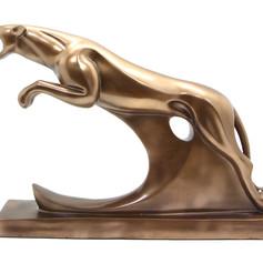 仿銅豹雕塑藝品