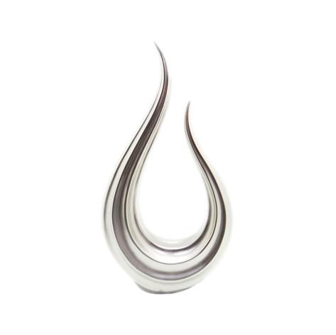 銀色水滴金屬擺飾