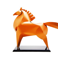 12生肖紙雕藝品 (馬)