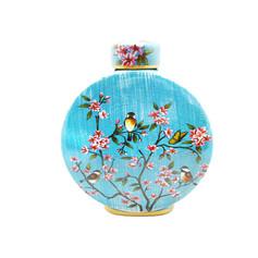 藍彩花卉 花器