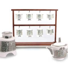 大鐘造型茶具組