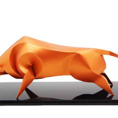 12生肖紙雕藝品 (牛)