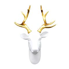 馴鹿頭掛飾(白)