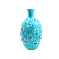 奶油圈藍花器B款