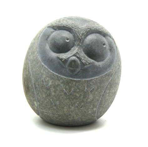 貓頭鷹石雕藝品1