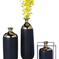 靜謐黑 花器
